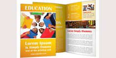 Brosur Sekolah  School Children Brochure Template  Contoh Brosur