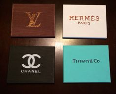 Designer Canvas Art Chanel Hermes Louis Vuitton by MGFTdesigns, $125.00 etsy.com I wonder if I could make these?,