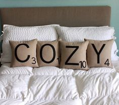 over 20 pillow tutorials including my personal favorite, the scrabble tile pillow. awesome.