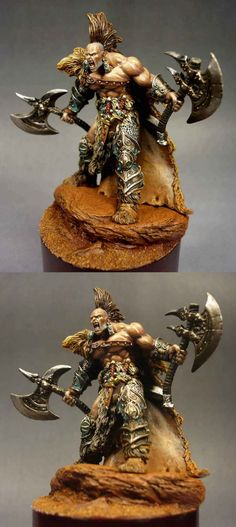The Internet's largest gallery of painted miniatures, with a large repository of how-to articles on miniature painting Figurine Warhammer, Warhammer 40k Figures, Warhammer Fantasy, Fantasy Model, Fantasy Art, Fantasy Battle, Tabletop, Fantasy Miniatures, Mini Paintings