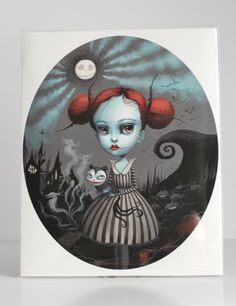 Verity Graves-Skellington - Limited Edition signed numbered 8x10 pop surrealism lowbrow Fine Art Print by Mab Graves -unframed