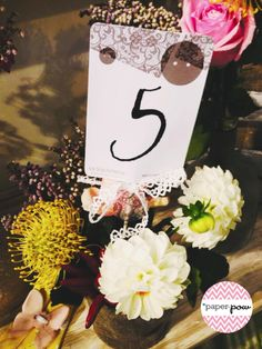 Marks table #wedding#flowers#markstable#number#DIY#paperpow#paper#lace#shabbychic#country#countrywedding#button#love