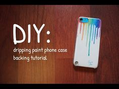DIY: dripping paint phone case backing tutorial - YouTube