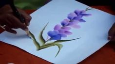 One Stroke Painting | How to Draw Flowers with Acrylic Colors