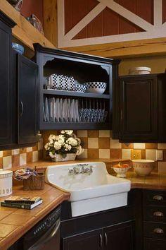 Corner Kitchen Sink Design Ideas Corner sink kitchen Corner