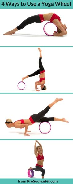 Easy Yoga Workout - Here are 4 of the many ways you can use a yoga wheel to enhance your strength, balance, flexibility and yoga practice. Get your sexiest body ever without,crunches,cardio,or ever setting foot in a gym