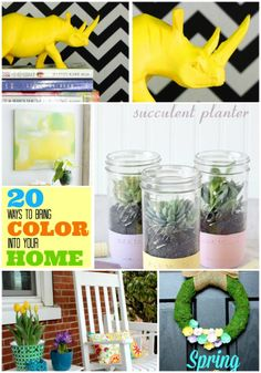 20 Ways to Bring Color Into Your Spring Decor! -- Tatertots and Jello #DIY #Spring