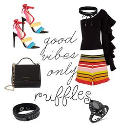 """""""Go ruflles"""" by oespinal on Polyvore featuring moda, Urban Outfitters, Beaufille, River Island, Givenchy, Swarovski, Boohoo y Alexandre Birman"""