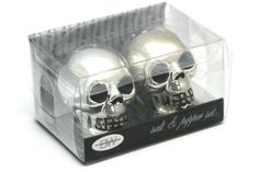 Neatoshop.com - fun gifts and halloween stuff. Bone Collector Skull - Salt & Pepper Shakers