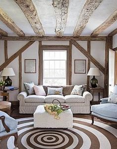 Rug & Wood Beams