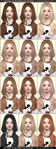 JS Sims 4: Skysims 033 hair retextured  - Sims 4 Hairs - http://sims4hairs.com/js-sims-4-skysims-033-hair-retextured/