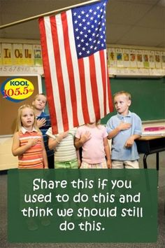 "I do think we should do this, but I also think it's very important that we explain to kids what it means. I was shocked by the fact the only a tiny handful of people in my college American Politics class knew the meaning of ""allegiance"". We Are The World, In This World, Pledge Of Allegiance, Thing 1, American Pride, American Flag, American History, American Anthem, American Girl"