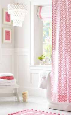 Pretty bathroom in #pink and #white http://rstyle.me/n/f2f24nyg6