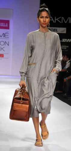 Nishka Lulla of India   Loose cotton dress for casual wear