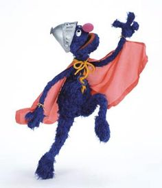 super grover - he just rocks.  this party is going to be awesome