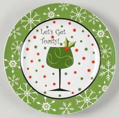 Let's Get Toasty! Green Wine Plate