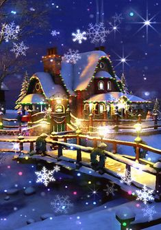 ╭•⊰✿ THE MAGIC OF CHRISTMAS ❄️ ✿⊱•╮BELIEVE.......❤️ *•.¸¸.•*`*•★ Merry Christmas Gif, Merry Christmas Wallpaper, Merry Christmas Pictures, Christmas Scenes, Christmas Art, Christmas Greetings, Christmas Wishes, Beautiful Christmas, Vintage Christmas