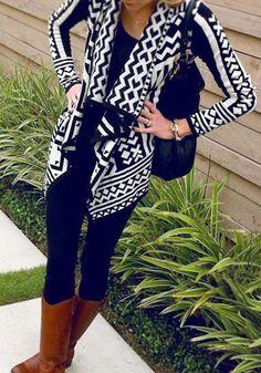 Black Floral Irregular Long Sleeve Streetwear Polyester Outerwear