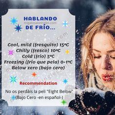 """¿Sabrías decir frío en inglés? Cuidado, no siempre es """"cold"""", ¡fíjate! English Time, Beer Bar, Best Wordpress Themes, Infographics, Decir No, Weather, Cold, Learning English, Vocabulary"""