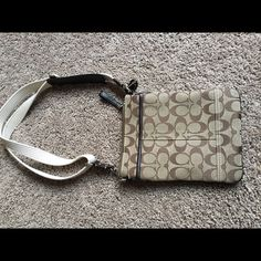 Coach over the shoulder purse Coach cross body purse with adjustable straps; small and great for taking on trips; only used a handful of times Coach Bags Crossbody Bags