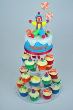 Gymbo the clown cake from Gymboree By Suziebcakes on CakeCentral.com