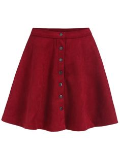 To find out about the Single-breasted Flare Red Skirt at SHEIN, part of our latest Skirts ready to shop online today! Red Skirts, Cute Skirts, Short Skirts, Red Skirt Outfits, Rock Outfits, Red Flare, Flare Skirt, Polyvore, Girl Clothing