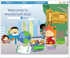 Wordsmyth Kids - An illustrated and interactive visual dictionary for promoting literacy, especially with learners.