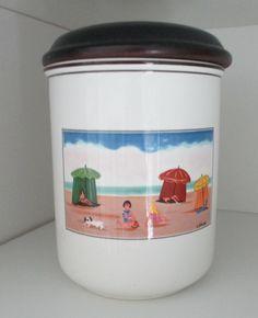 villeroy and boch beach scene canister
