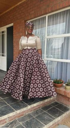 ndebele traditional attire for African women – shweshwe
