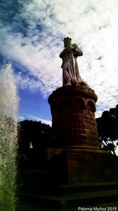 Monumento al rey Alfonso I El Batallador en el Parque Grande de Zaragoza. King Alphonse I El Batallador, monumet, Great Park, Zaragoza