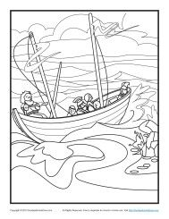 Children's Bible Coloring Page