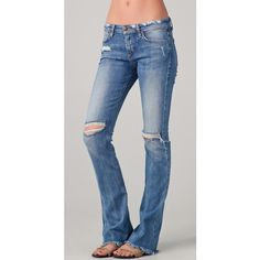 Joe's Jeans The Skinny Micro Flare Jeans ($125) ❤ liked on Polyvore