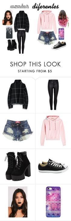 """mundos diferente"" by charlianacc on Polyvore featuring moda, Chicwish, Vetements y Converse"