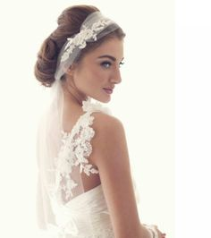 Wedding Tulle Hairpiece  Bridal Headband by UniqueJewelryLLC