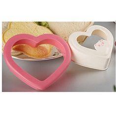 KAKATM Heart Shaped Sandwich Maker Cake Cookies Bread Mould Cutter DIY Lovely Bento Food Cutter *** For more information, visit image link.