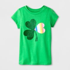 Find product information, ratings and reviews for Toddler Girls' St Patrick's Day Short Sleeve T-Shirt - Cat & Jack™ Green online on Target.com.