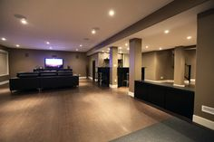 Modern Basement Photos Design Ideas, Pictures, Remodel, and Decor - page 9