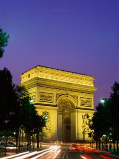 Arch de Triomphe, Paris. Its in the center of the largest roundabout in the world, with 12 roads feeding into it.