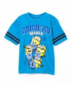 Look at this Blue Despicable Me 'Minion Mania' Tee - Boys on #zulily today!
