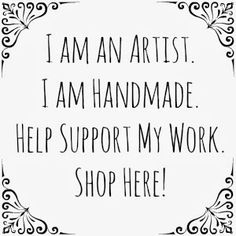 """This square image is intended for individual artists to use to help promote their shop, blog, website, etc to show that they are the artist, maker, designer of the goods they sell. Help Support Individual Artists by buying Handmade. Purchasing from small shops and galleries, individual artists, and from smaller companies that keep their production local to help support local communities is a great way to """"Shop Smart"""" and give meaningful gifts throughout the year! #BuyHandmade @Love My Art…"""