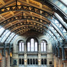 The interior of the Natural History Museum in London.. #london #naturalhistorymuseum #touristattraction #museum #historic #history #naturalhistory #decorative #pattern #architecture #heritage #tourism #england #artifacts #art #decorative #education #exhibition