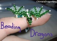 Bead Dragon Instructions - Mama would have loved this! Tiny little finger dragons! ******************************** by=ChimeraDragonfang on deviantART -  #dragon #beading