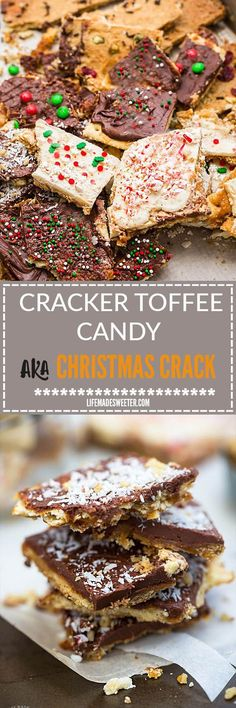Christmas Cracker Toffee - 7 Ways with Saltine & Graham Crackers makes an easy and addictive treat perfect for the holidays! Best of all, takes as little as 4 ingredients and SUPER EASY to customize!
