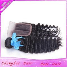 3Hair Bundles with Lace Closure Deep Wave Brazilian Virgin Hair 100g/Bundle 7A Deep Wave Curly Real 100% Weave Human Hair from Shangkaibeautyhair,$62.31 | DHgate.com