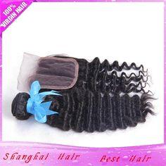 3Hair Bundles with Lace Closure Deep Wave Brazilian Virgin Hair 100g/Bundle 7A Deep Wave Curly Real 100% Weave Human Hair from Shangkaibeautyhair,$62.31 | DHgate.com