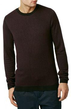Grid Stitch #Crewneck #Sweater