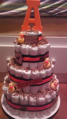 Hunting themed diaper  cake!