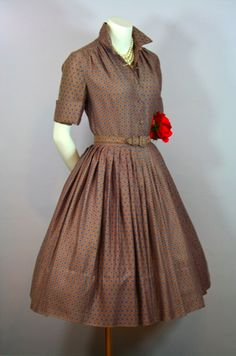 1950s  									  									  									  									  									  										shirtdress  									  									  									  									  									  										circle skirt