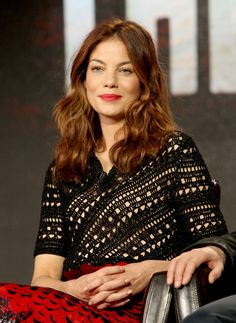 Actress Michelle Monaghan speaks onstage during the Hulu Winter TCA Press Tour 2016 'The Path' panel at The Langham Huntington Hotel and Spa on January 9, 2016 in Pasadena, California.