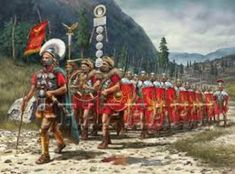 This is a picture of the ancient Roman army. They were very strong in regards to their military. They conquered many regions during their Roman expansion period except Sparta. Rome History, Ancient History, Military Art, Military History, Rome Antique, Roman Warriors, Roman Legion, Empire Romain, Roman Empire